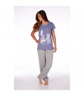 Pijama manga corta pantalón largo