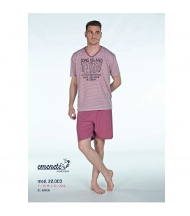 Pijama de hombre pantalón corto