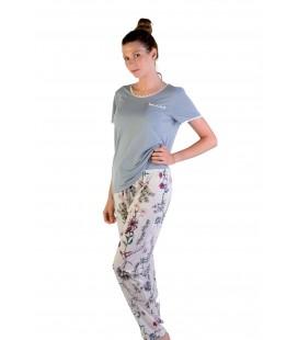 Pijama pantalón largo manga corta