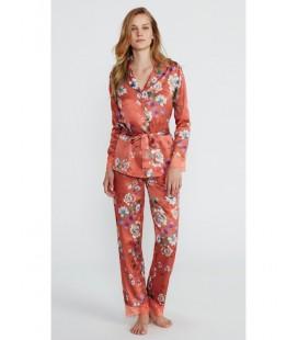 Pijama largo de saten