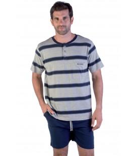 Pijama caballero pantalón corto de algodón