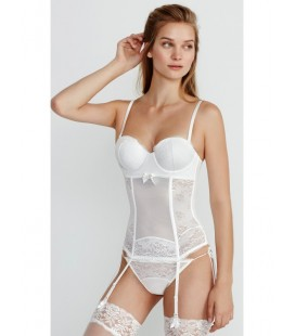 Corselette push-up balconette