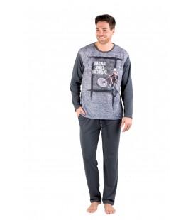 Pijama de hombre juvenil manga larga