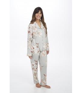Pijama verano pantalón largo manga larga